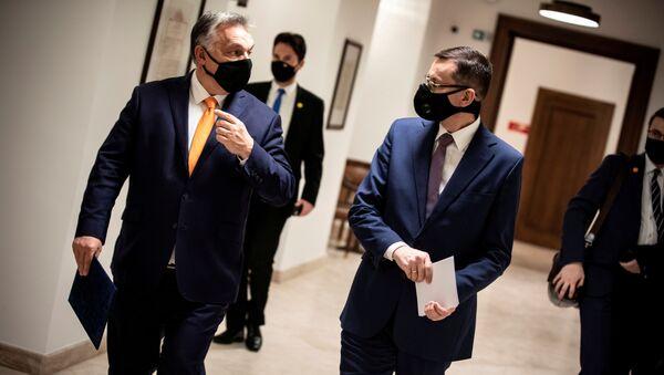 Viktor Orbán a Mateusz Morawiecki - Sputnik Česká republika