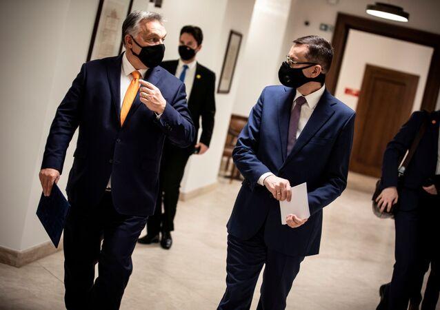 Viktor Orbán a Mateusz Morawiecki