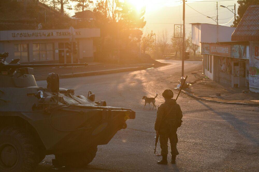 Ruské mírové síly v Náhorním Karabachu.
