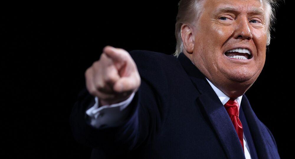 Americký prezident Donald Trump ve státě Georgia. Ilustrační foto