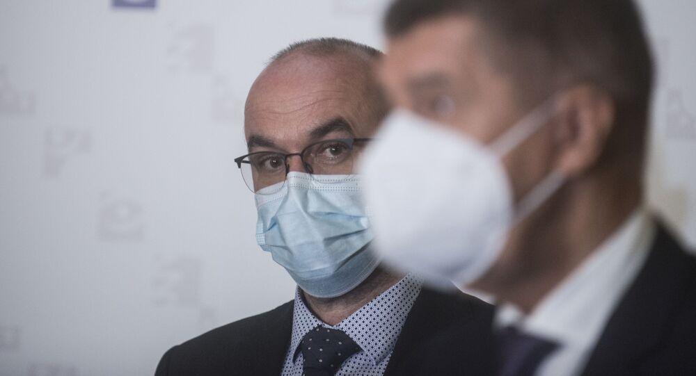 Setkání premiéra Andreje Babiše s ministrem zdravotnictví Janem Blatným.