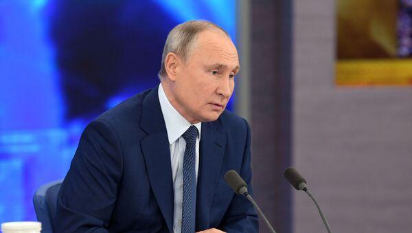 Velká tisková konference Vladimira Putina - Sputnik Česká republika
