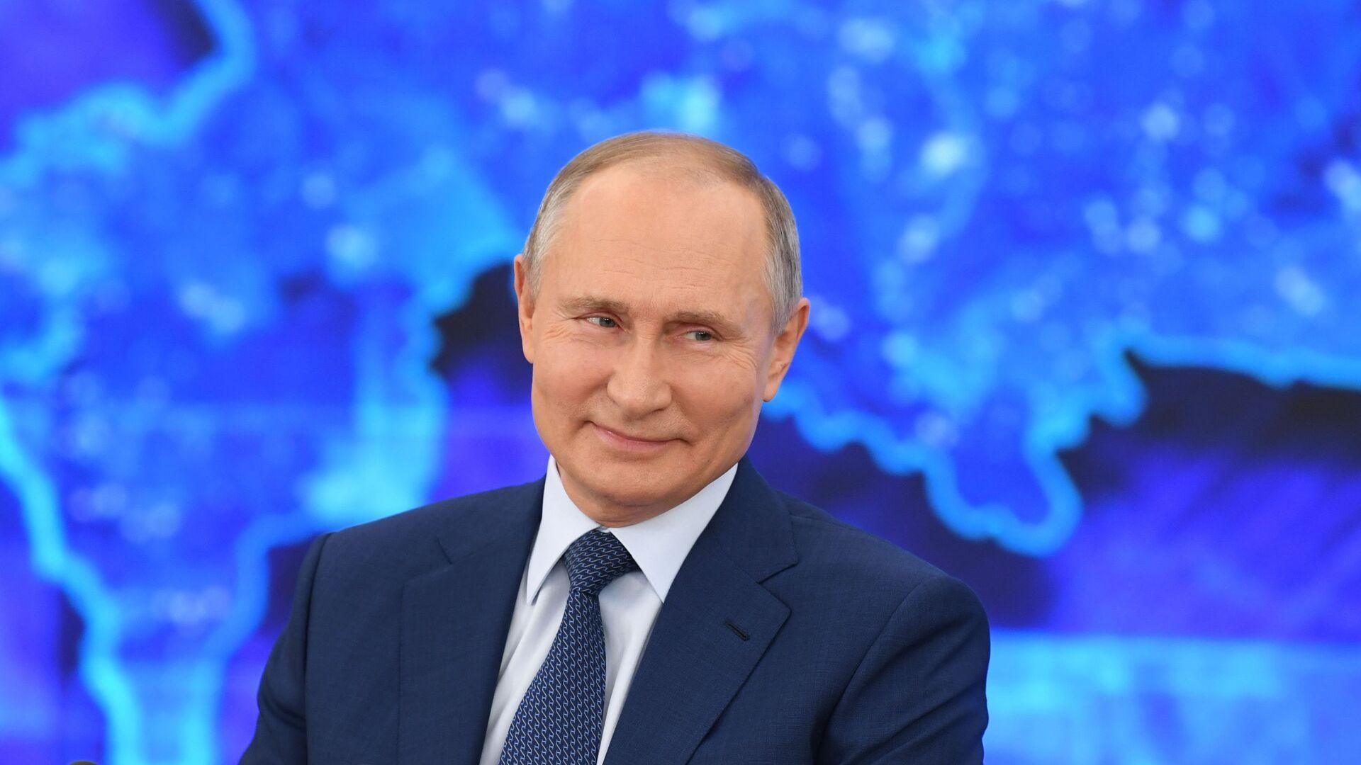 Vladimir Putin během tiskové konference 17.prosince 2020 - Sputnik Česká republika, 1920, 14.06.2021