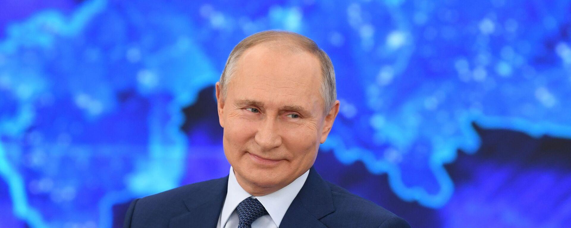 Vladimir Putin během tiskové konference 17.prosince 2020 - Sputnik Česká republika, 1920, 13.06.2021