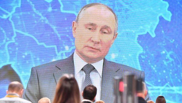 Velká tisková konference Vladimira Putina v novém formátu - Sputnik Česká republika