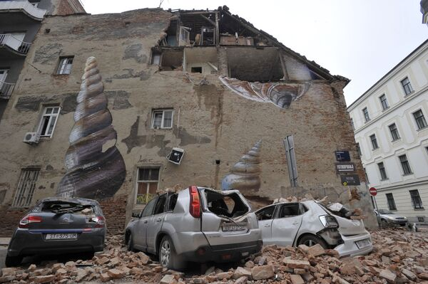 Následky zemětřesení v Záhřebu, Chorvatsko - Sputnik Česká republika