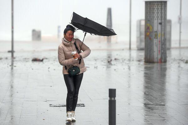 Bouře Gloria na východním pobřeží Španělska v lednu roku 2020 - Sputnik Česká republika