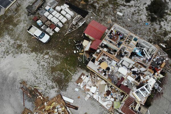 Zničený dům během hurikánu Sally, USA - Sputnik Česká republika
