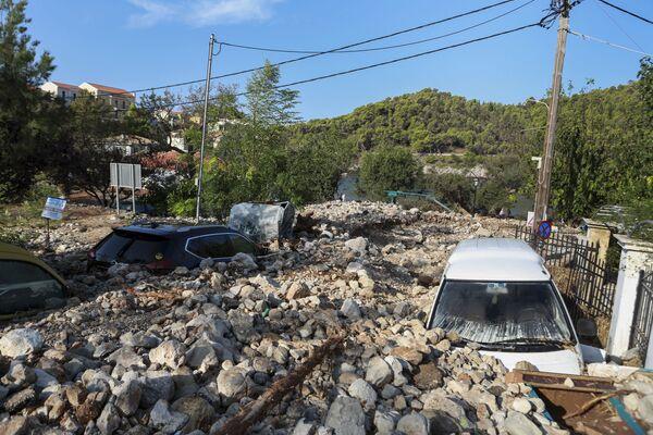 Následky tropické bouře Janos v Řecku - Sputnik Česká republika