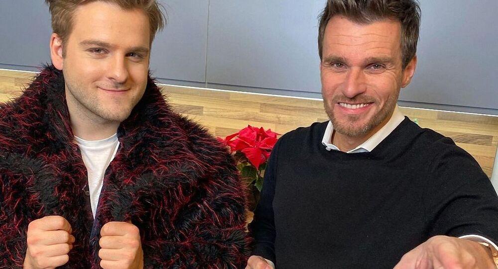 Kuchař Martin Škoda a moderátor Leoš Mareš