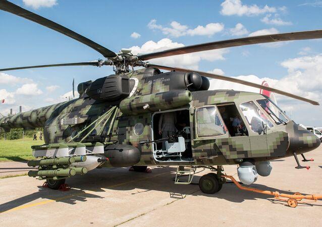 Nový ruský transportní bojový vrtulník Mi-8AMTŠ