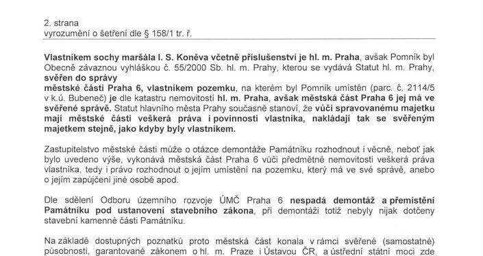 Vyrozumění Policie 2. str.