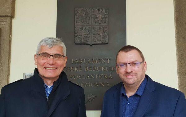 Epidemiolog Jiří Beran a poslanec Lubomír Volný - Sputnik Česká republika
