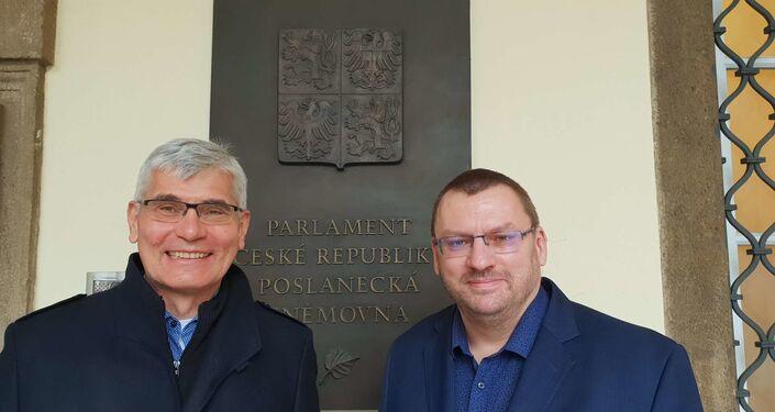 Epidemiolog Jiří Beran a poslanec Lubomír Volný