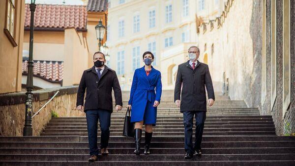 Marian Jurečka, Marketa Pekarová Adamová a Petr Fiala - Sputnik Česká republika