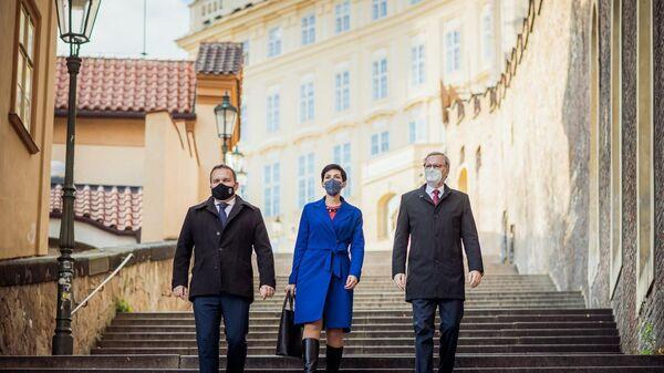 Lídři koalice Spolu: Marian Jurečka (KDU-ČSL), Markéta Pekarová Adamová (TOP 09) a Petr Fiala (ODS). - Sputnik Česká republika