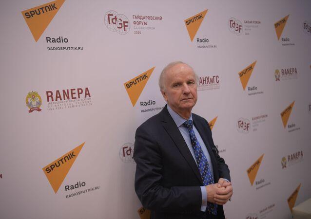 Bývalý místopředseda vlády a bývalý ministr financí Polské republiky Grzegorz Kolodko v Moskvě