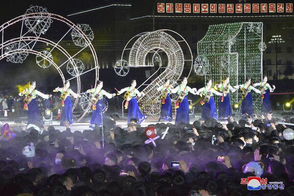 Oslavy Silvestra v Severní Koreji. - Sputnik Česká republika