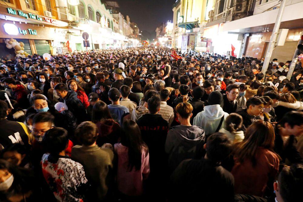 Oslavy nového roku ve Vietnamu.