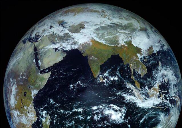Fotografie Země pořízená kosmickou lodí Electro-L