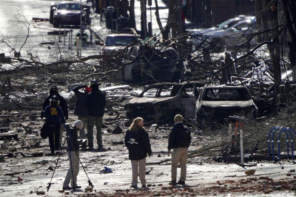 Následky výbuchu v Nashvillu ve Spojených státech