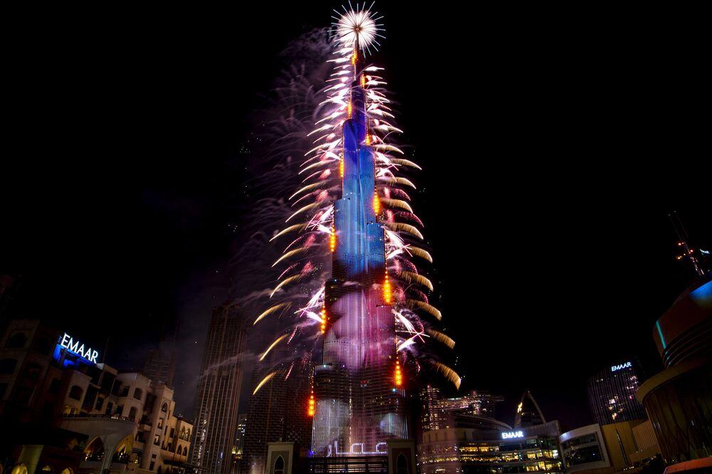 Věž Burj Khalifah v Dubaji