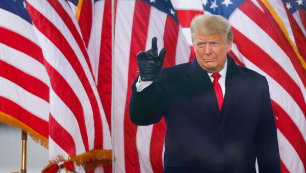 Americký prezident Donald Trump během projevu před svými stoupenci ve Washingtonu - Sputnik Česká republika