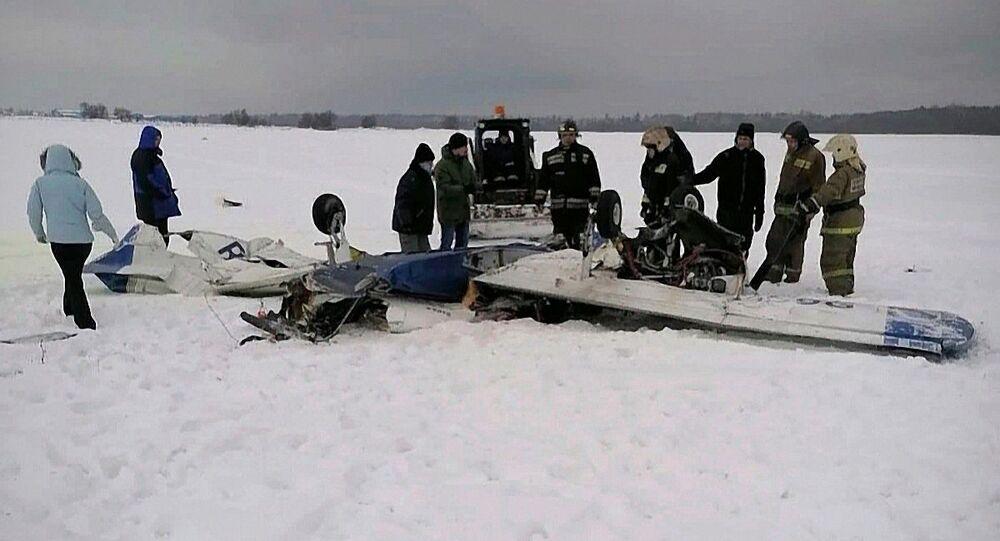 Poblíž Petrohradu se srazila dvě lehká letadla