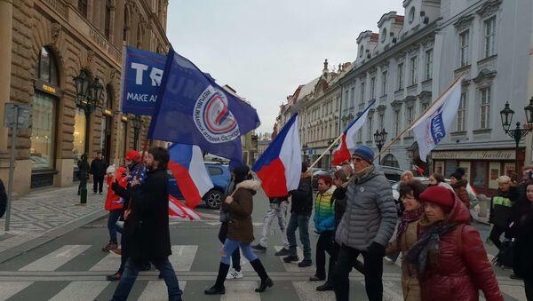 Demonstrace v Praze - Sputnik Česká republika