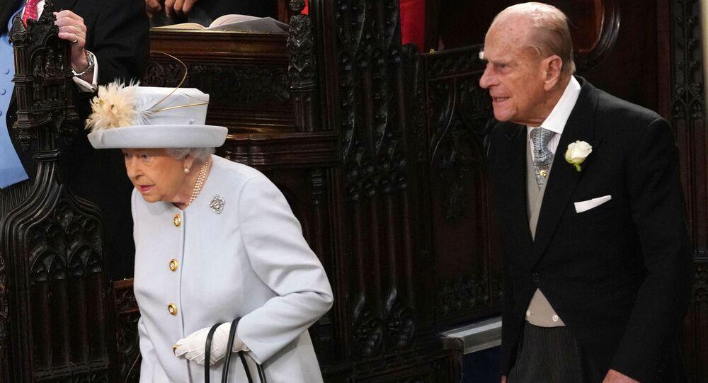 Britská královna Alžběta II. a její manžel princ Philip