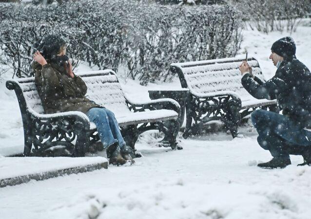 Zasněžená Moskva. Ilustrační foto