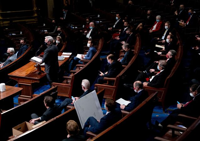 Zasedání v Kongresu USA. Ilustrační foto