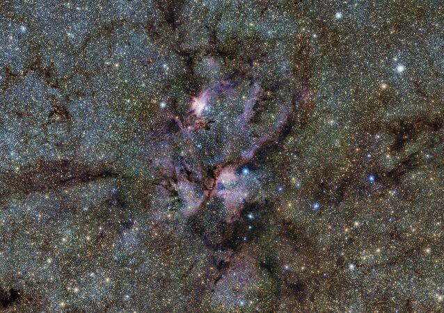Mlhovina NGC 6357 v souhvězdí Štíra