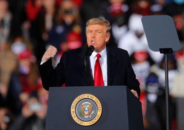 Americký prezident Donald Trump ve státě Georgia