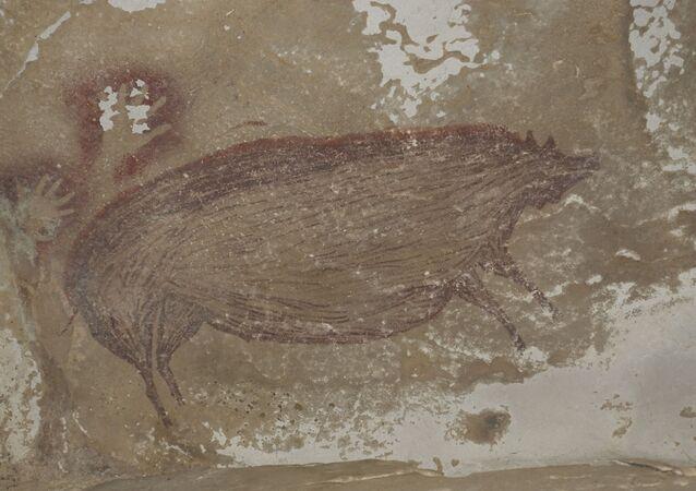 V indonéské jeskyni byla objevena jedna z nejstarších maleb zvířete