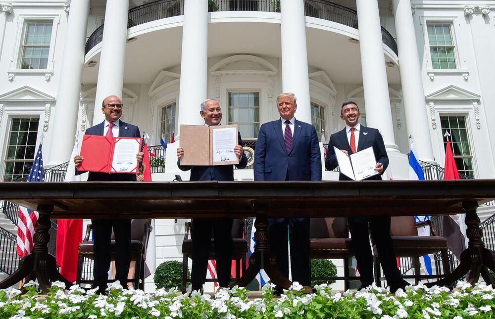 Podepsání Abrahamské dohody