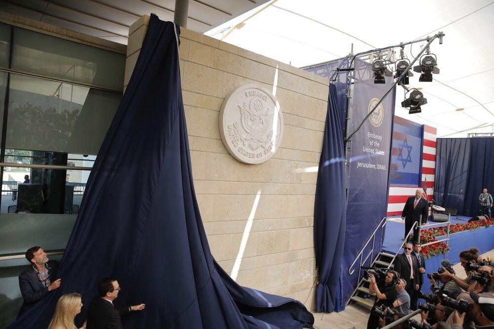 Slavnostní otevření nového Velvyslanectví USA v Jeruzalému