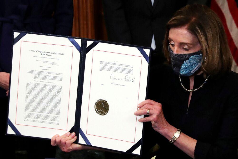 Předsedkyně Sněmovny reprezentantů Nancy Pelosiová