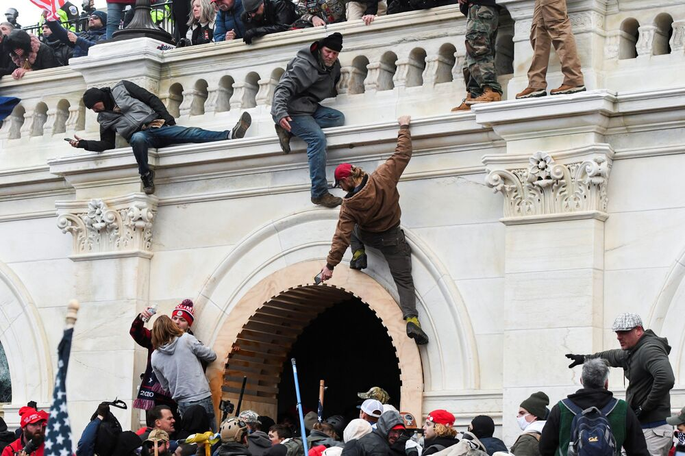 Protesty u Kapitolu ve Washingtonu