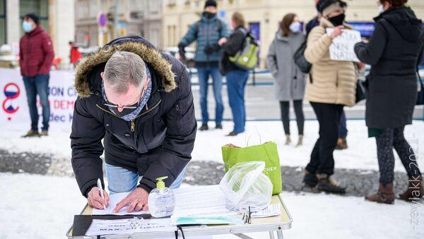 Demonstrace proti Xavera Veselého v Hradci Králové - Sputnik Česká republika