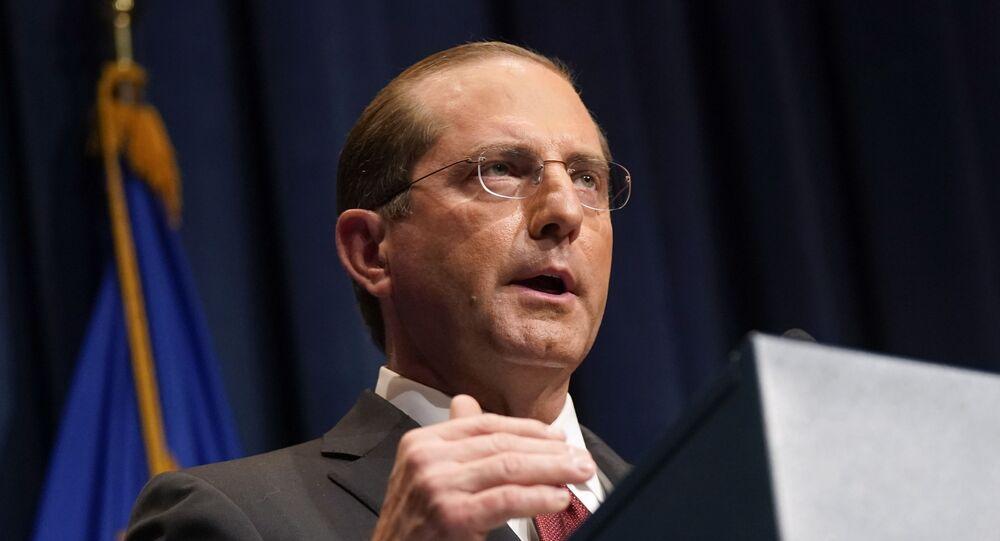 Americký ministr zdravotnictví Alex Azar