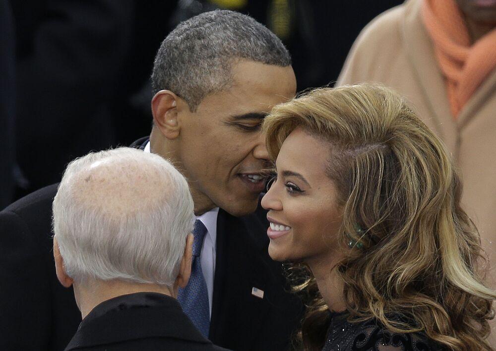 Barack Obama a zpěvačka Beyoncé