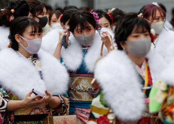 Dívky v kimonu v Jokohamě - Sputnik Česká republika