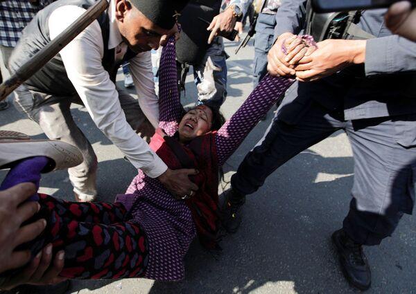Protesty v Káthmándú, Nepál - Sputnik Česká republika
