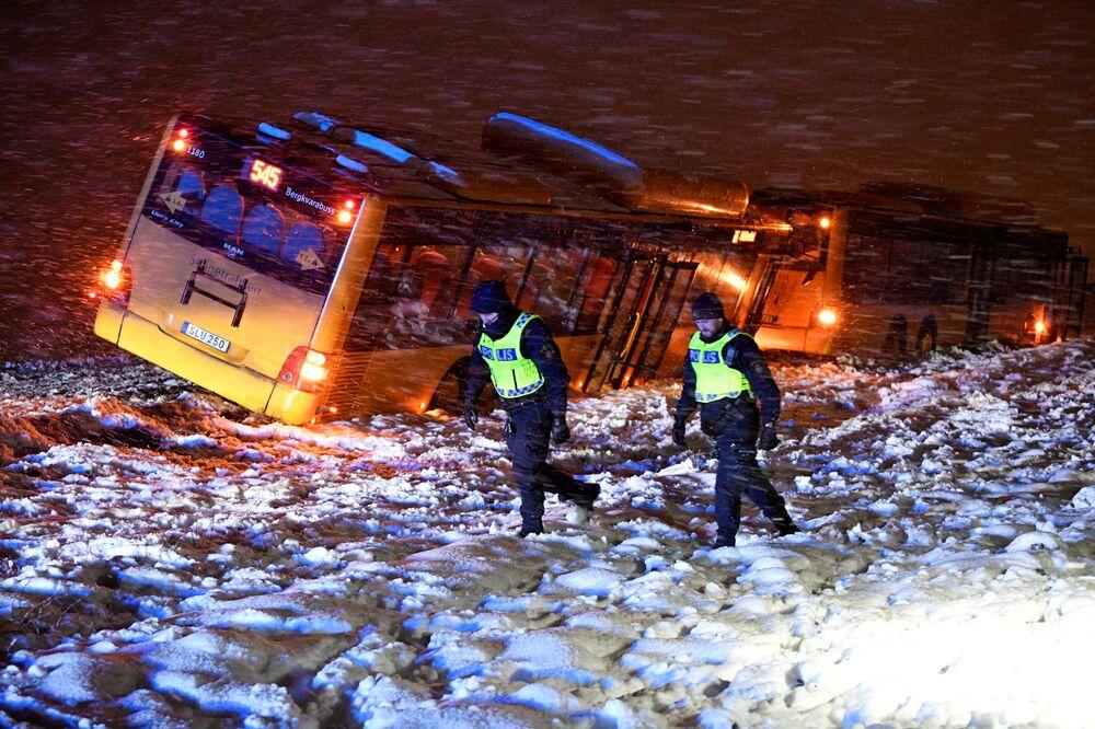 Dopravní nehoda ve Švédsku