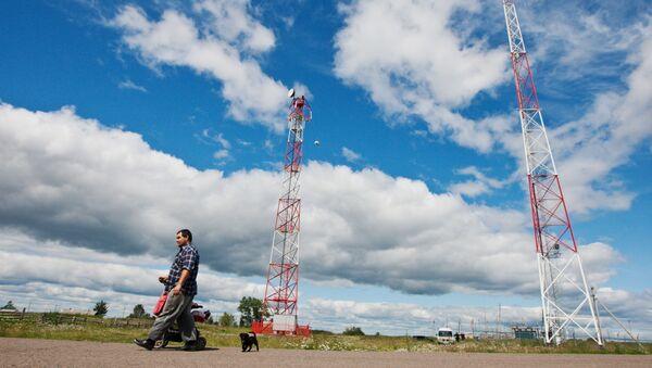 Montáž vysílačů v ruské Tomské oblasti. Ilustrační foto - Sputnik Česká republika