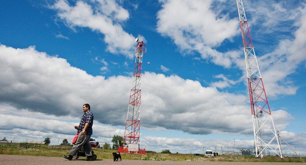 Montáž vysílačů v ruské Tomské oblasti. Ilustrační foto