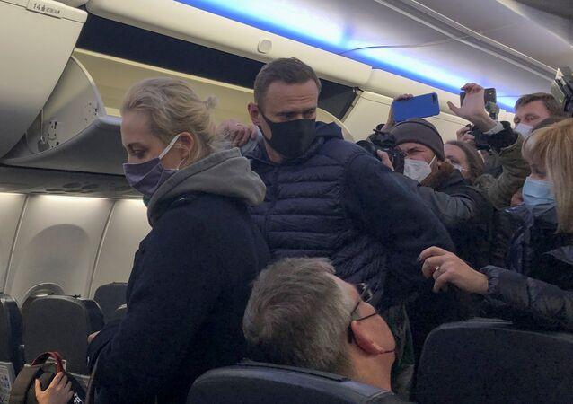 Alexej Navalnyj v letadle