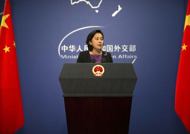 Mluvčí čínského ministerstva zahraničí Hua Chunying