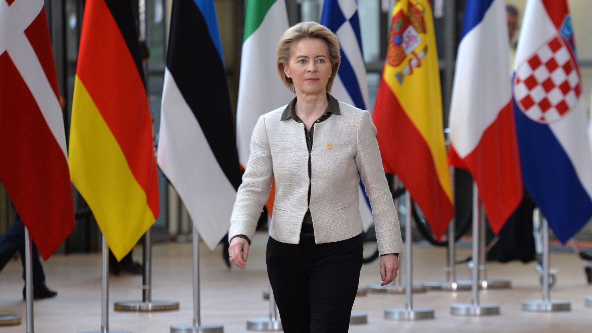 Předsedkyně Evropské komise Ursula von der Leyenová  - Sputnik Česká republika, 1920, 18.06.2021